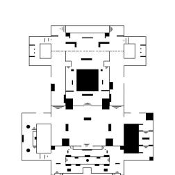This version of the layout is the base of the Space Station level. It does not contain visuals of the flanking options on the left and right sides of the map.
