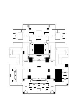 This version of the level layout for Space Station contains information displaying the flanking options on the left and right hand sides of the map.
